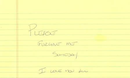 Note from John before he left